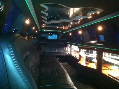 14 passenger white limo interior