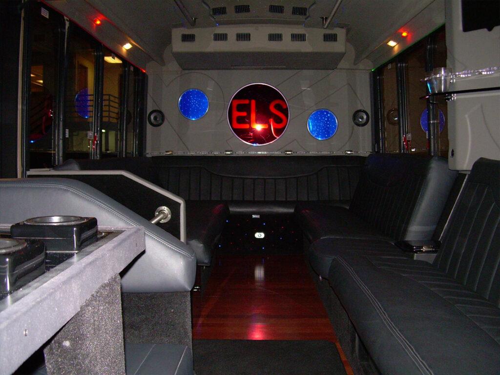 20-22 passenger limo bus interior