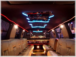 24 passenger Ford SUV limo interior