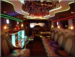 20 passenger Hummer H2 interior
