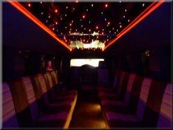 24 passenger Hummer H2 interior
