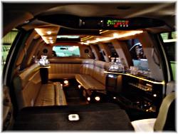 16 passenger Ford SUV limo interior