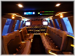 Ford SUV limo interior